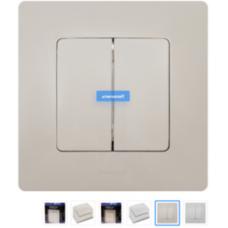Радио переключатель HiTE PRO LE-2 (белый) / Двухканальный беспроводной переключатель для управления осветительными приборами