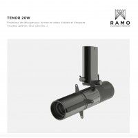 Светильник с высокоточной оптикой для картин RAMO TENOR 20W