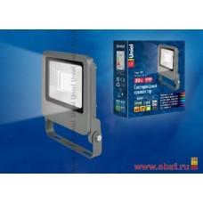 ULF-F17-30W/NW IP65 195-240В SILVER Прожектор светодиодный. Белый свет (4000K). Корпус серебристый.