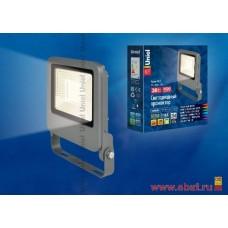 ULF-F17-30W/WW IP65 195-240В SILVER Прожектор светодиодный. Теплый белый свет (3000K). Корпус серебр