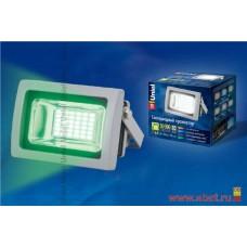 Uniel прожектор св/д 10W(600lm) зеленого свечения, алюминий/серый ULF-S04-10W/GREEN IP65