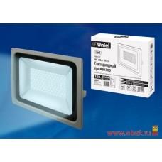 ULF-F16-150W/DW IP65 185-240В SILVER Прожектор светодиодный. Дневной свет (6500K). Корпус серебристы