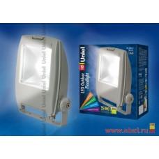 Uniel прожектор св/д 10W(700lm) 6500K 6K алюминий/серый ULF-S02-10W/DW IP65